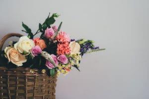 fleurs panier